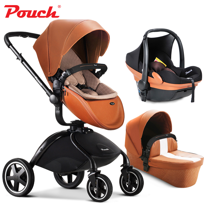 Pouch baby strollers 3 in 1 baby car folding light baby stroller ...
