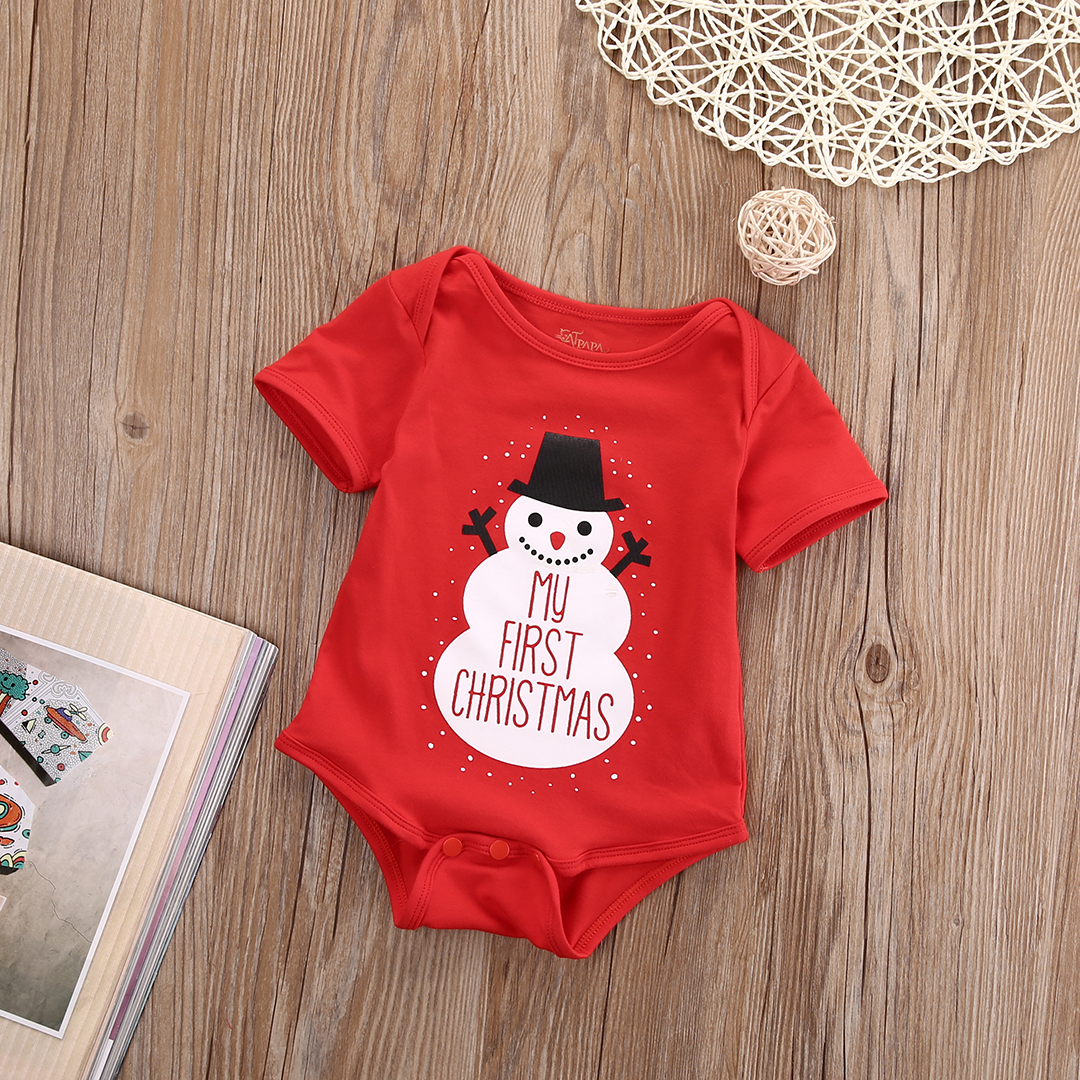 Christmas Jumpsuit Baby.Snowman My First Christmas Romper Jumpsuit